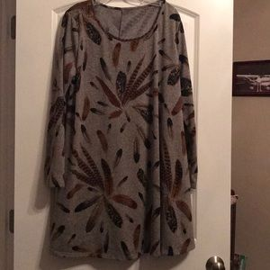Beautiful Fall Shirt Dress, 2XL, like new